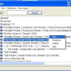 VLC Media Player Playlist > Shoutcast TV