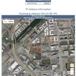 Trace ip address information, Satellite Image and Map at iptrackeronline.com