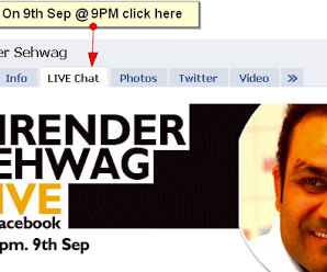 Chat LIVE with Virender Sehwag on Facebook 2