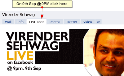 Chat LIVE with Virender Sehwag on Facebook 1