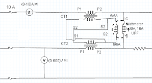 Measurement of 3-Phase Power Using 2 CTs and 1 Wattmeter 2