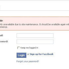 Facebook Login - Your Account is Temporarily Unavailable Due to Site Maintenance 2