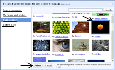 How to Add Your Own Background Image to Your Google Homepage 1