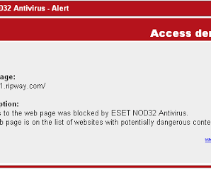 ESET NOD32 Antivirus Blocks Ripway 2