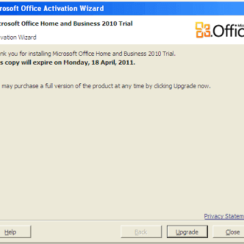 Daily Screenshots - Microsoft Office Home and Business 2010 Trial Activation Wizard 1
