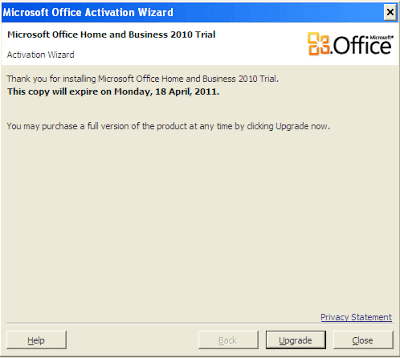 Daily Screenshots - Microsoft Office Home and Business 2010 Trial Activation Wizard 9
