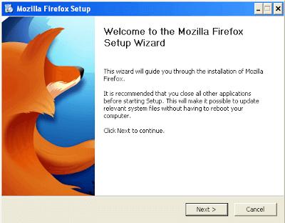 Mozilla Firefox 4 Setup Wizard - Snapshots 1