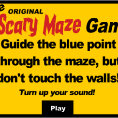 The Original Scary Maze Game - Guide the blue point through the maze, but don't touch the walls!