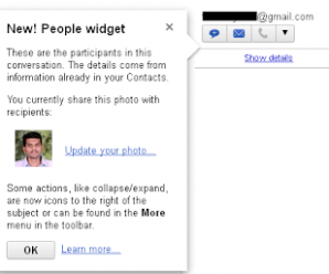 Gmail Introduced the People Widget - New! 3