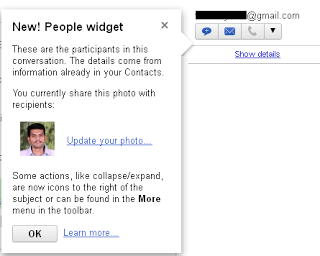 Gmail Introduced the People Widget - New! 1