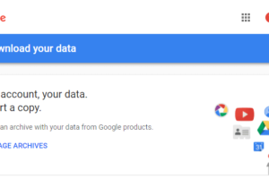 How to Backup and Download Your Google Data Using Google Takeout 1