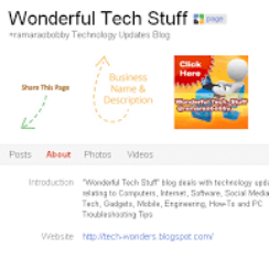 Tech-Wonders.com Starts on Google+ Pages - Add to Your Circles 1
