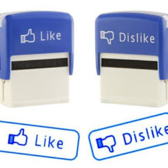 Cool Facebook Style Like and Dislike Self Inking Stamps Set 1