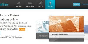 SlideOnline.com Lets You Upload and Share PowerPoint Online 1