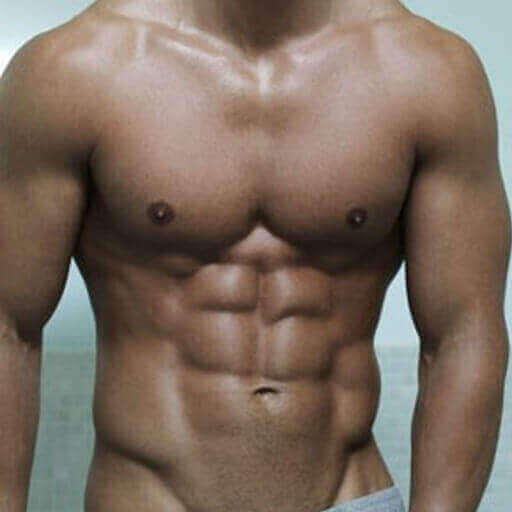 Man with Killer Six Pack Abs