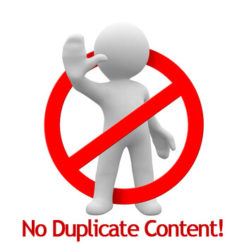 No Duplicate Content Image