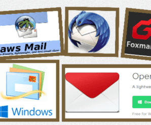 Five Most Popular Free Desktop Email Clients - Claws Mail, Opera Mail, Foxmail, Thunderbird, Windows Live Mail