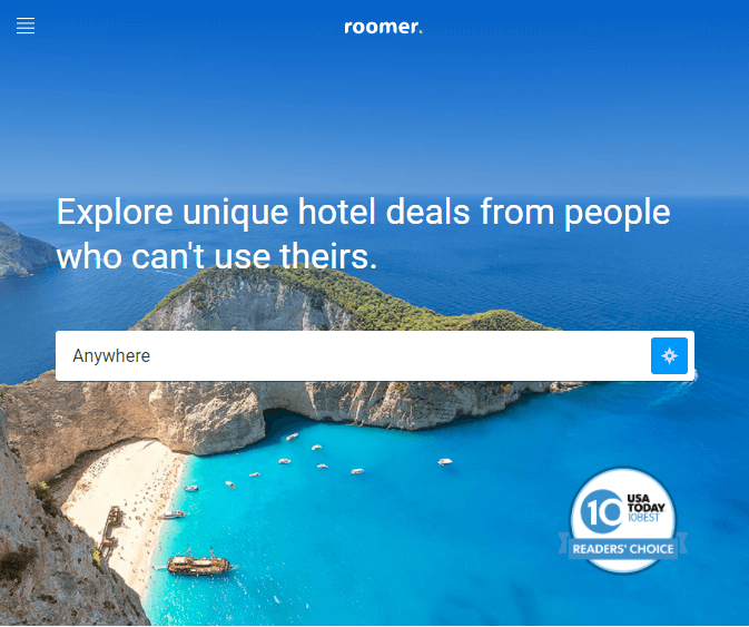 Roomer - Explore unique hotel deals from people who can't use theirs.