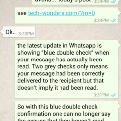 Blue Ticks in WhatsApp Confirms Message Read 3
