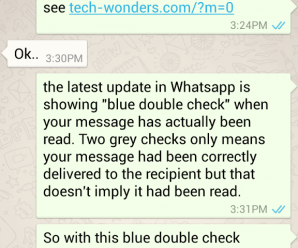 Blue Ticks in WhatsApp Confirms Message Read 1
