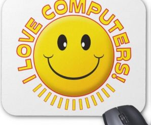 I LOVE COMPUTERS SMILE MOUSE