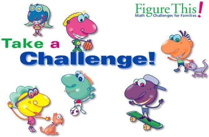 Figure This provides Math Challenges for Families. Take a Challenge!