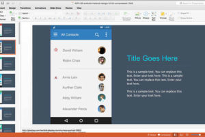 Android App Prototyping using Material UI PowerPoint Design Kit 1