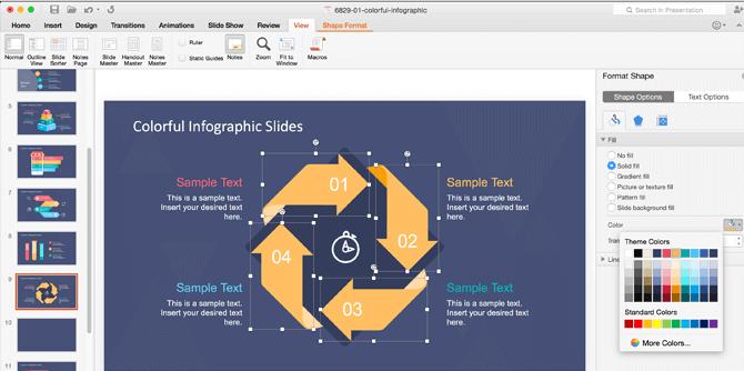 Change Color Properties Shapes - 100% Editable PowerPoint Templates