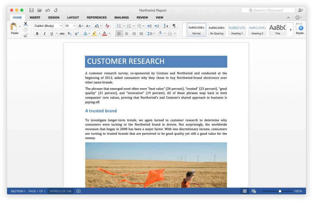 Microsoft Word 2016 for Mac  overview