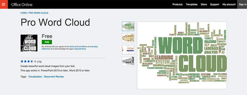 Pro Word Cloud Plugin PowerPoint