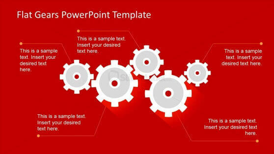 3 best process gear shapes for powerpoint, Modern powerpoint
