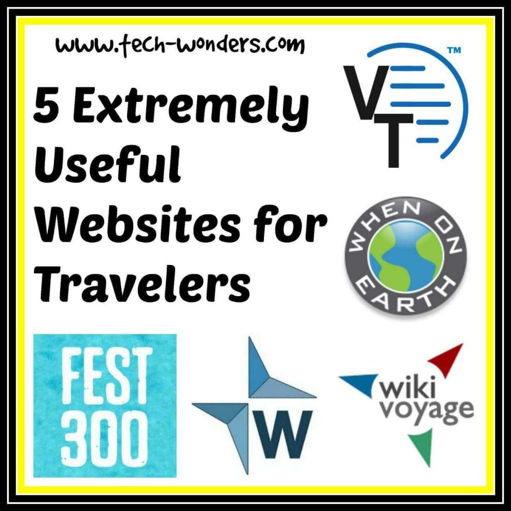 5 Extremely Useful Travel Websites