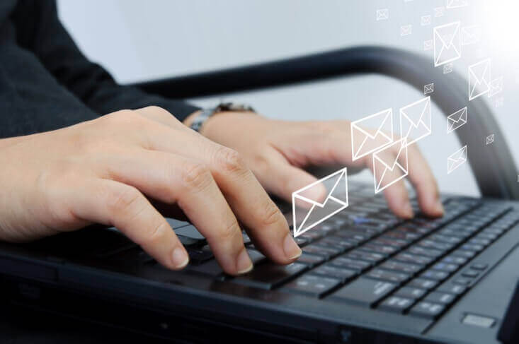 Health Care Providers Writing Emails with Patient Information