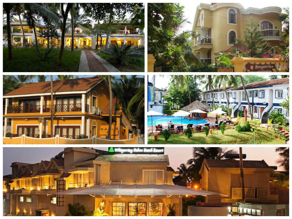 Top 5 Luxury Hotels in Goa Front View Collage Picture