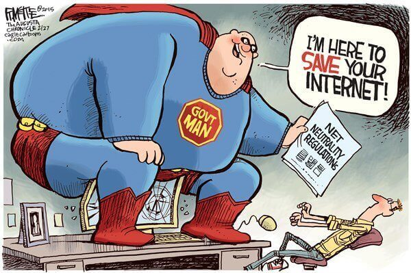 Government impose Net Neutrality Regulations threatening Internet freedom