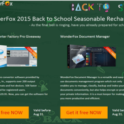 WonderFox Back to School Giveaway - Two software (Video Converter Factory Pro and WonderFox Document Manager, value $59.90) as FREE GIFT