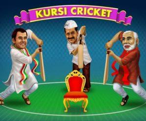 Narendra Modi, Rahul Gandhi, Arvind Kejriwal Kursi Cricket Game 1