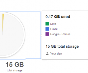 Usage of Storage Space in Gmail 1