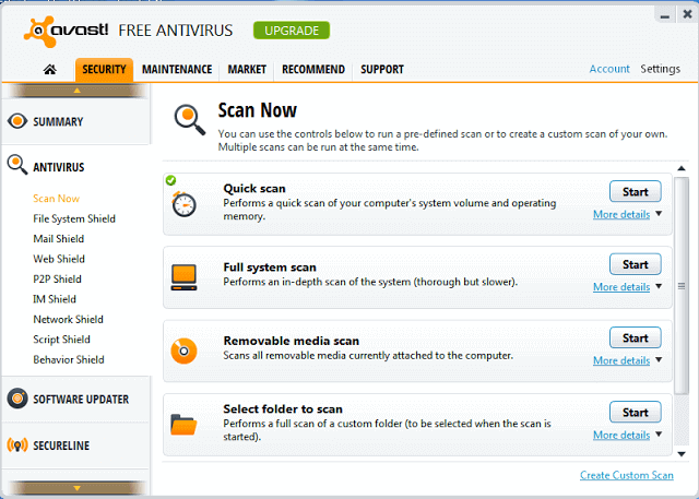 Free Antivirus Software with Low CPU Usage and System Memory Usage 2