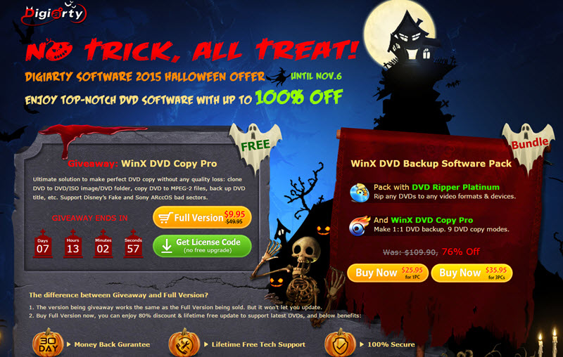Halloween Freebie: Get the Best DVD Copy Software WinX DVD Copy Pro
