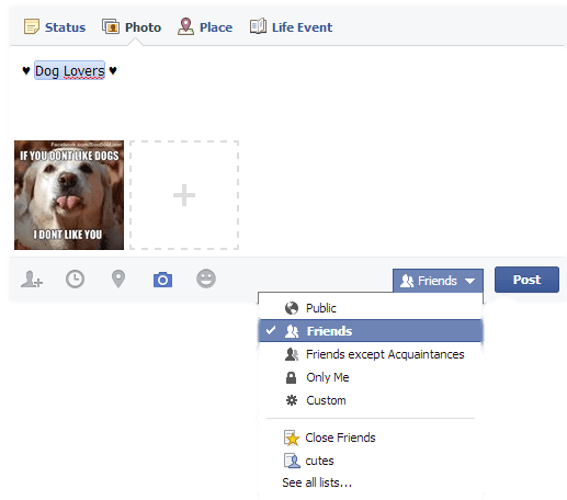 How to Make Facebook Photos to Be Seen By Just Friends 1