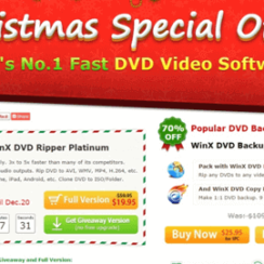 Christmas Special Offer - World's No. 1 Fast DVD Video Software - WinX DVD Ripper Platinum Giveaway