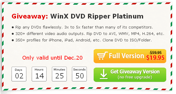 WinX DVD Ripper Platinum Giveaway - Flawlessly and Easily Rip DVDs