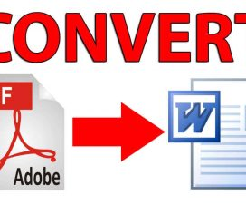 Convert PDF to Word (.doc or .docx) file