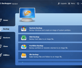 Backup Options in AOMEI Backupper Standard - System Backup, Disk Backup, Partition Backup, File Backup