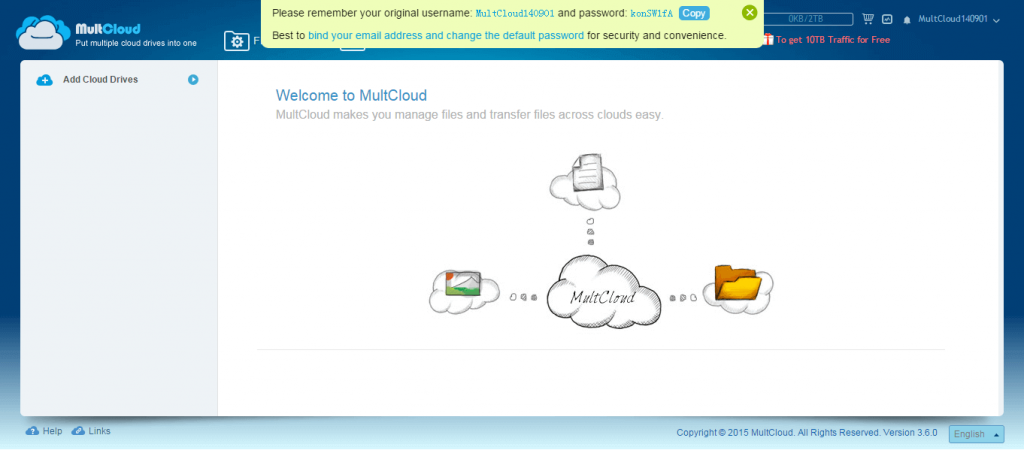 MultCloud makes you manage files and transfer files across clouds easy