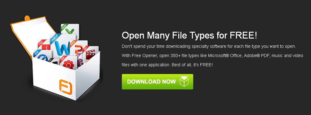 With Free Opener, open 350+ file types