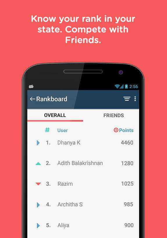 Entri Android App Rankboard - Know Your Rank in Your State. Compete with Friends