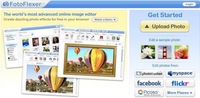 FotoFlexer is the most powerful online photo editor