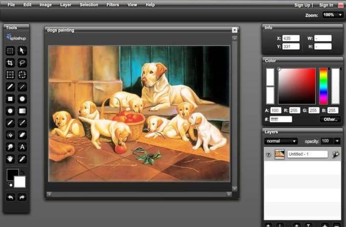 SplashUp Online Photo Editor